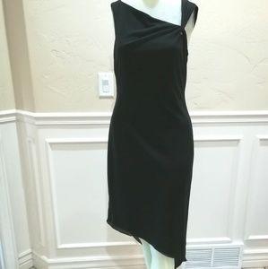 David Meister assymetrical black dress